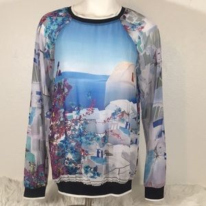 Clover Canyon ocean and multicolor blouse Small